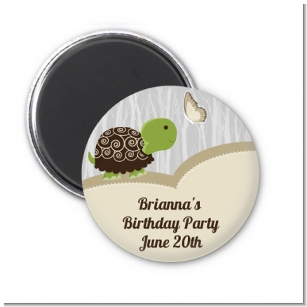 Turtle Neutral - Personalized Birthday Party Magnet Favors