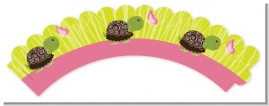Baby Turtle Pink - Baby Shower Cupcake Wrappers