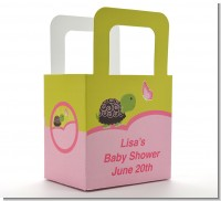 Baby Turtle Pink - Personalized Baby Shower Favor Boxes