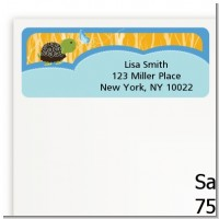 Baby Turtle Blue - Baby Shower Return Address Labels