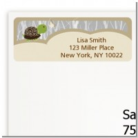 Baby Turtle Neutral - Baby Shower Return Address Labels