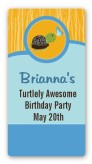 Turtle Blue - Custom Rectangle Birthday Party Sticker/Labels