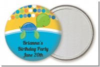 Turtle Blue - Personalized Birthday Party Pocket Mirror Favors