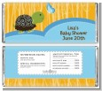 Baby Turtle Blue - Personalized Baby Shower Candy Bar Wrappers thumbnail