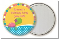 Turtle Girl - Personalized Birthday Party Pocket Mirror Favors