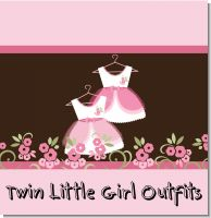 Twin Little Girl Outfits Baby Shower Theme