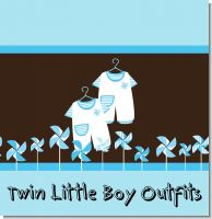 Twin Little Boy Outfits Baby Shower Theme