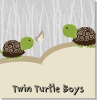 Twin Turtles Baby Shower Theme