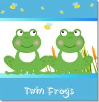 Twin Frogs Baby Shower Theme