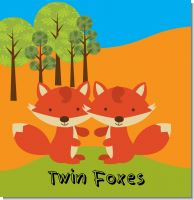 Twin Foxes Baby Shower Theme