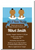 Twin Baby Boys African American - Baby Shower Petite Invitations