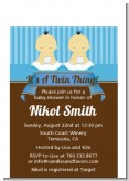 Twin Baby Boys Asian - Baby Shower Petite Invitations