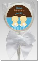 Twin Baby Boys Asian - Personalized Baby Shower Lollipop Favors