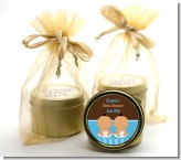 Twin Baby Boys Hispanic - Baby Shower Gold Tin Candle Favors