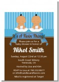 Twin Baby Boys Hispanic - Baby Shower Petite Invitations