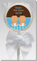 Twin Baby Boys Hispanic - Personalized Baby Shower Lollipop Favors