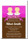 Twin Baby Girls Asian - Baby Shower Petite Invitations