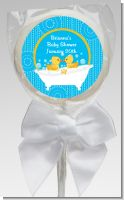 Twin Duck - Personalized Baby Shower Lollipop Favors