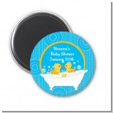 Twin Duck - Personalized Baby Shower Magnet Favors