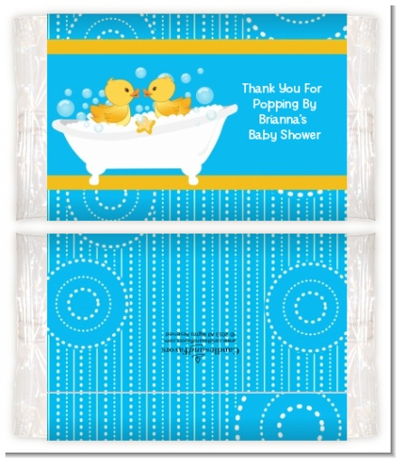 Twin Duck - Personalized Popcorn Wrapper Baby Shower Favors