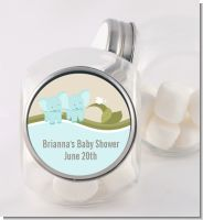 Twin Elephant Boys - Personalized Baby Shower Candy Jar