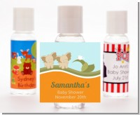 Twin Elephants - Personalized Baby Shower Hand Sanitizers Favors
