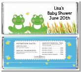 Twin Frogs - Personalized Baby Shower Candy Bar Wrappers