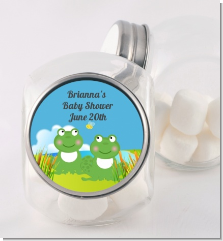 Twin Frogs - Personalized Baby Shower Candy Jar