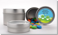 Twin Frogs - Custom Baby Shower Favor Tins