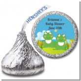 Twin Frogs - Hershey Kiss Baby Shower Sticker Labels