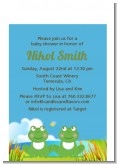 Twin Frogs - Baby Shower Petite Invitations