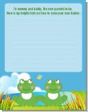 Twin Frogs - Baby Shower Notes of Advice