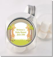 Twin Giraffes - Personalized Baby Shower Candy Jar