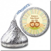 Twin Lions - Hershey Kiss Baby Shower Sticker Labels