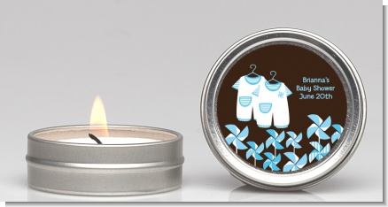 Twin Little Boy Outfits - Baby Shower Candle Favors