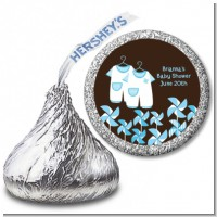 Twin Little Boy Outfits - Hershey Kiss Baby Shower Sticker Labels
