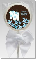 Twin Little Boy Outfits - Personalized Baby Shower Lollipop Favors