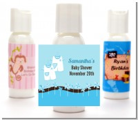 Twin Little Boy Outfits - Personalized Baby Shower Lotion Favors