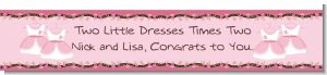 Twin Little Girl Outfits - Personalized Baby Shower Banners