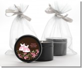 Twin Little Girl Outfits - Baby Shower Black Candle Tin Favors