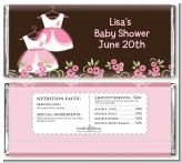Twin Little Girl Outfits - Personalized Baby Shower Candy Bar Wrappers