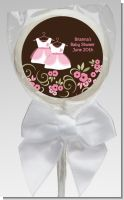 Twin Little Girl Outfits - Personalized Baby Shower Lollipop Favors