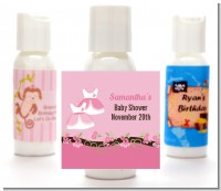 Twin Little Girl Outfits - Personalized Baby Shower Lotion Favors