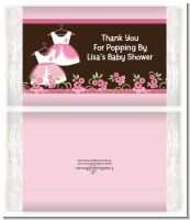 Twin Little Girl Outfits - Personalized Popcorn Wrapper Baby Shower Favors