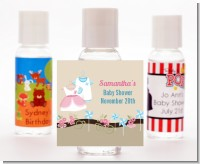 Twin Little Outfits 1 Boy and 1 Girl - Personalized Baby Shower Hand Sanitizers Favors