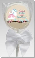 Twin Little Outfits 1 Boy and 1 Girl - Personalized Baby Shower Lollipop Favors