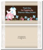 Twin Little Outfits 1 Boy and 1 Girl - Personalized Popcorn Wrapper Baby Shower Favors