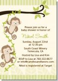 Twin Monkey - Baby Shower Invitations