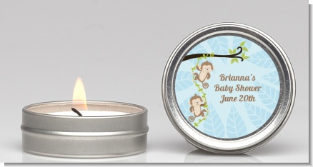 Twin Monkey Boys - Baby Shower Candle Favors