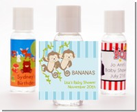 Twin Monkey Boys - Personalized Baby Shower Hand Sanitizers Favors